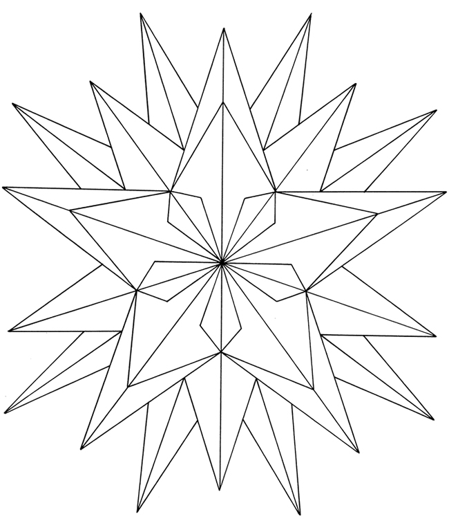Free Coloring/Painting Page: Geometric Star