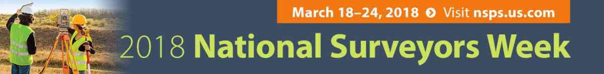 NSPS Surveyors Week 2018 Banner