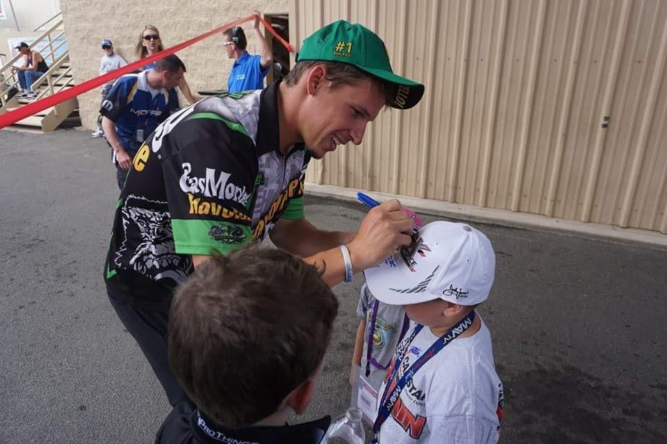 Alex Laughlin and Fan