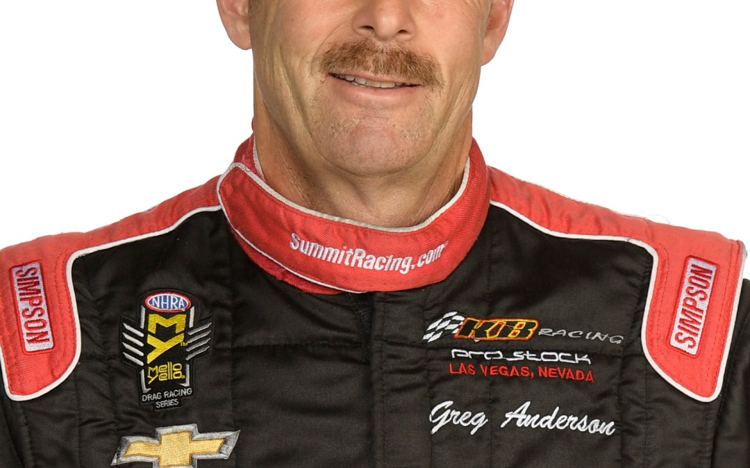 Millican, C. Force, Anderson on top of NHRA ladders