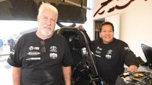Funny Car pilot Frank Pedregon with Chuck Worsham