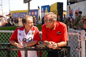 The late Terry Chandler and Don Schumacher Racing owner Don Schumacher at an NHRA event