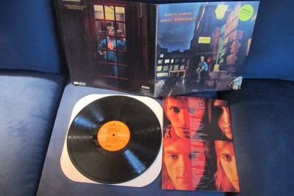 Rare promotional press kit for Rykodisc's seminal 1990 reissue campaign of the Bowie catalog, starting with 'The Rise & Fall of Ziggy Stardust' and the Spiders From Mars.' Note Ryko record label in the old RCA font, along with hard paper stock lyric and photo insert