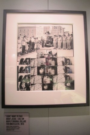 """Don't Wanna Talk About Jesus: Robert Frank's original collage for the inlay LP cover of '72's """"Exile"""""""