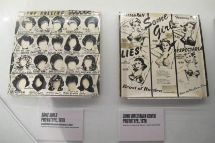 """Original cover moick-ups for the """"Some Girls"""" album"""
