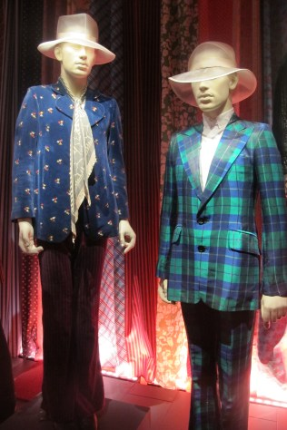 Keith's blue blazer and Charlie's tartan suit, circa 1966-67