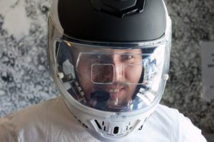 helmet with HUD