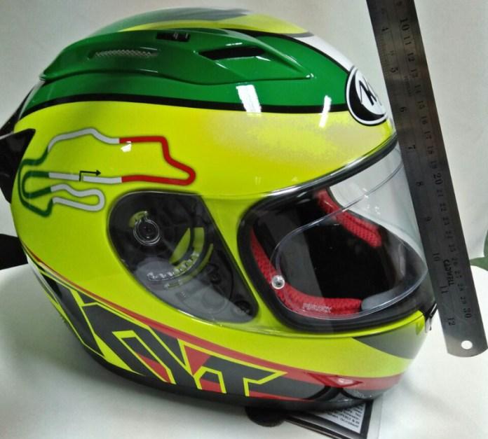 flat visor kyt r10