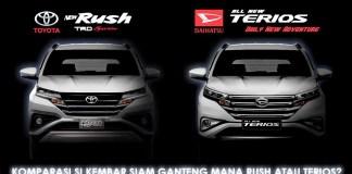 Perbedaan Fitur New Toyota Rush dan New Daihatsu Terios