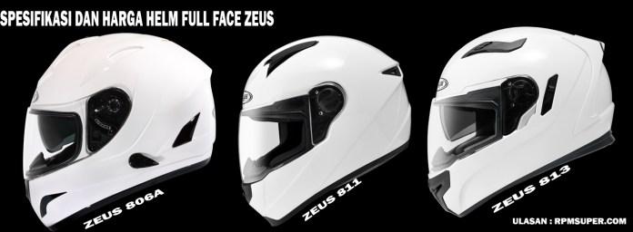 Spesifikasi dan Harga Helm Zeus