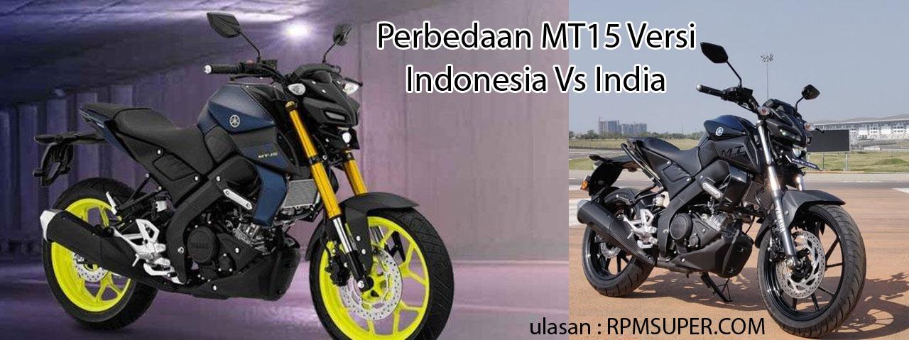 Perbedaan Yamaha MT15 di Indonesia dan India
