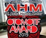 penghargaan AHM di oto award 2019
