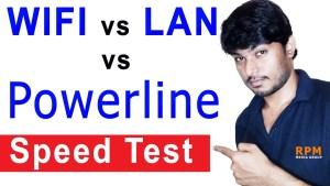 wifi lan powerline speed test