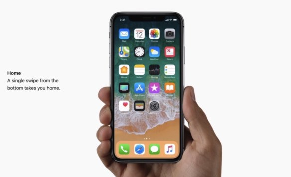 iphone x home gesture
