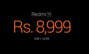 Redmi y1 price
