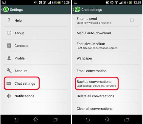 Transfer Whatsapp Messages