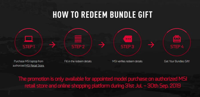 HOW TO REDEEM BUNDLE GIFT of MSI India