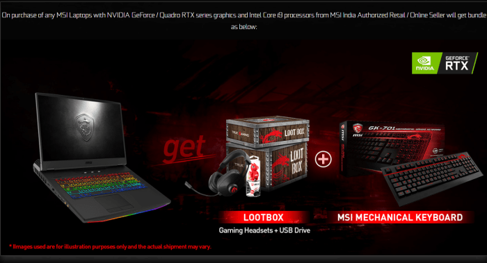 msi india laptop offer