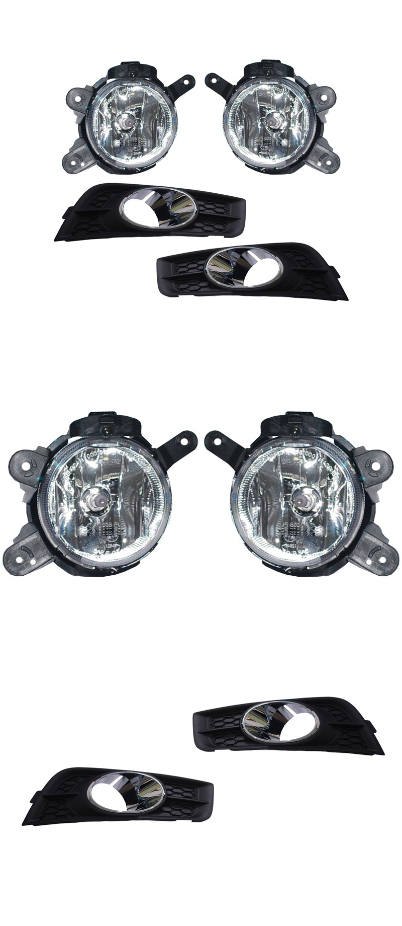Genuine Fog Lamp Light & Cover Replacement Kit for