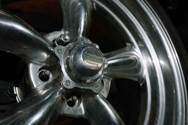 chrome car wheel with tire