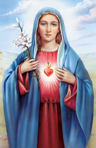 General Immaculate Heart Of Mary Holy Card