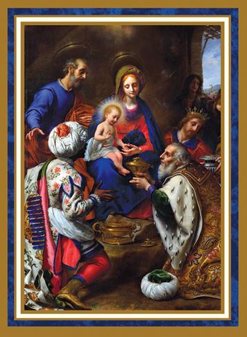 Cards Christmas Adoration