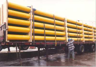 Pipe load on truck