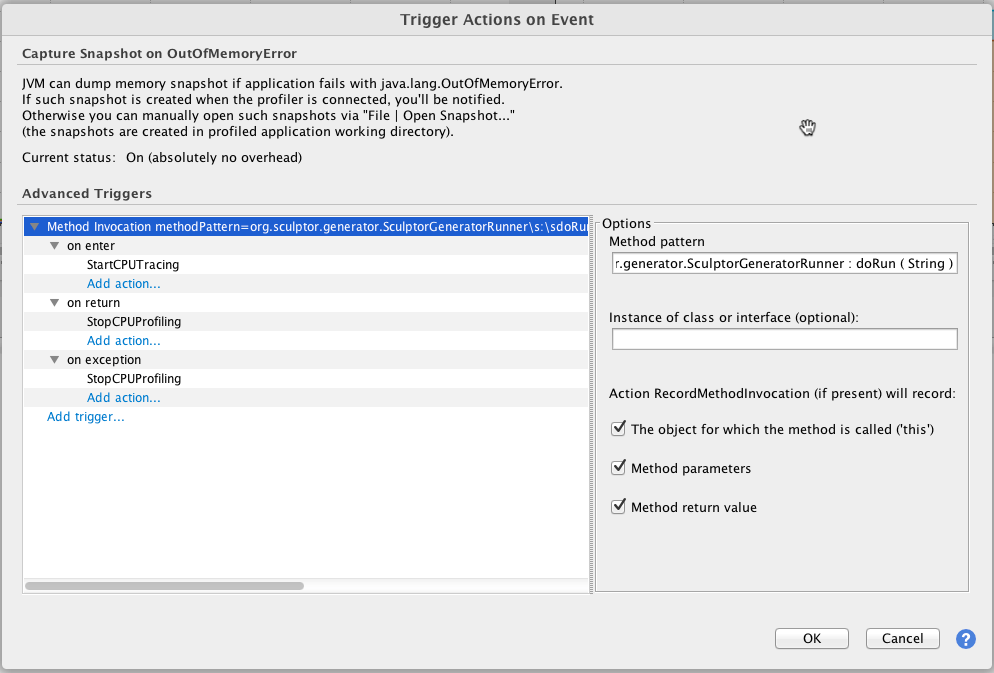 Profiling Maven Sculptor execution using YourKit | Ron Smith's Blog