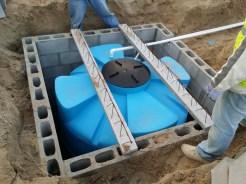 Cistern installed