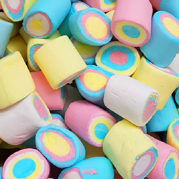 Rainbow Tube Marshmallows