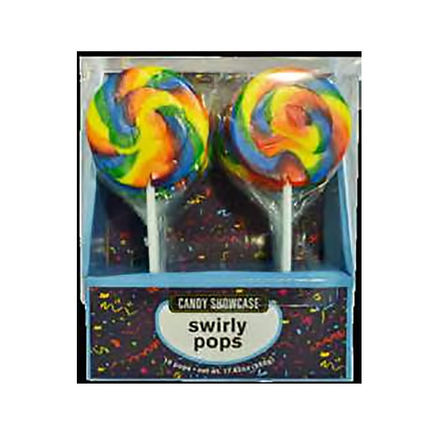 Swirly Lolly Pops Rainbow coloured