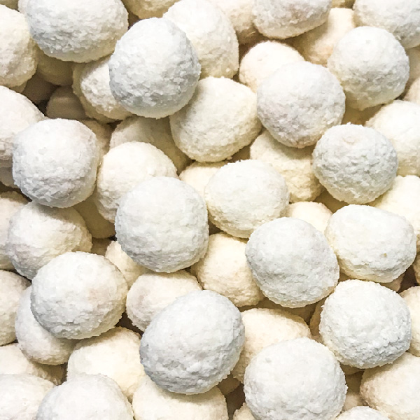 Apricot Coated Coconut Balls