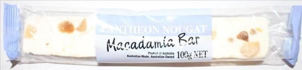 Pantheon Nougat Macadamia Bar