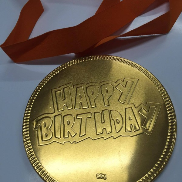 Happy Birthday Large Chocolate Coin