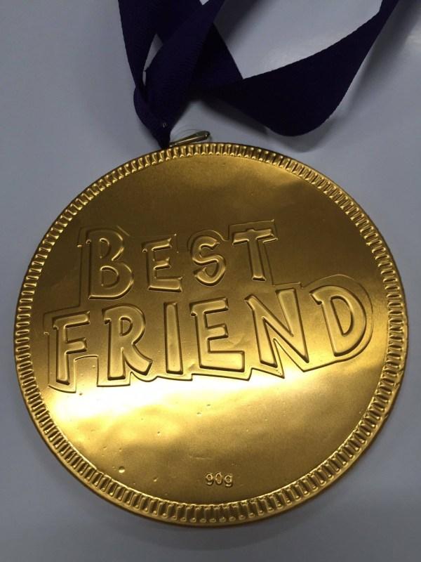 Best Friend Large Choc Coin
