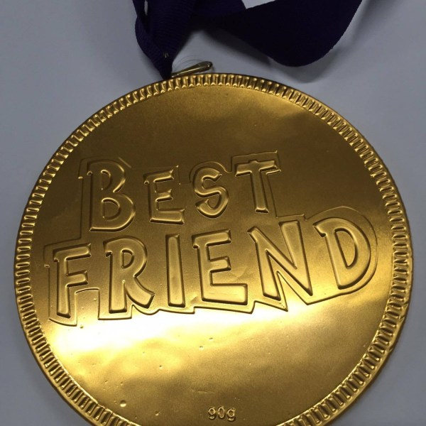 Best Friend Large Choc Coin