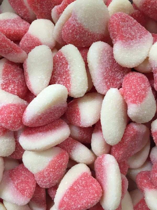 Sour Raspberry Hearts