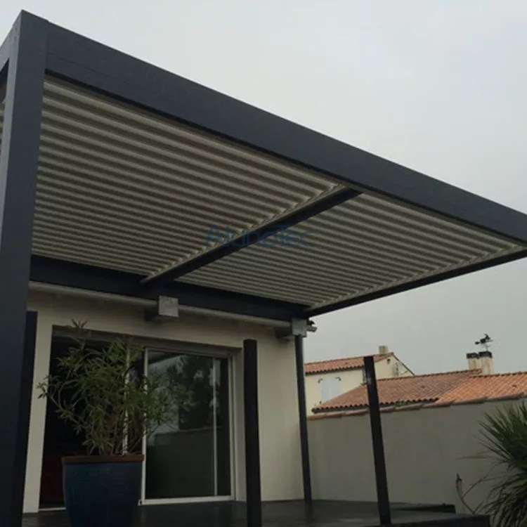 luxury electric louvered patio cover