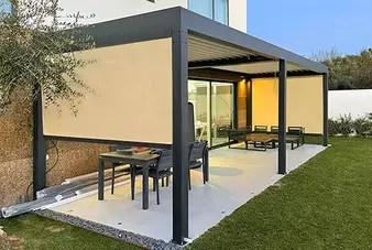 patio canopy aluminum pergola alunotec