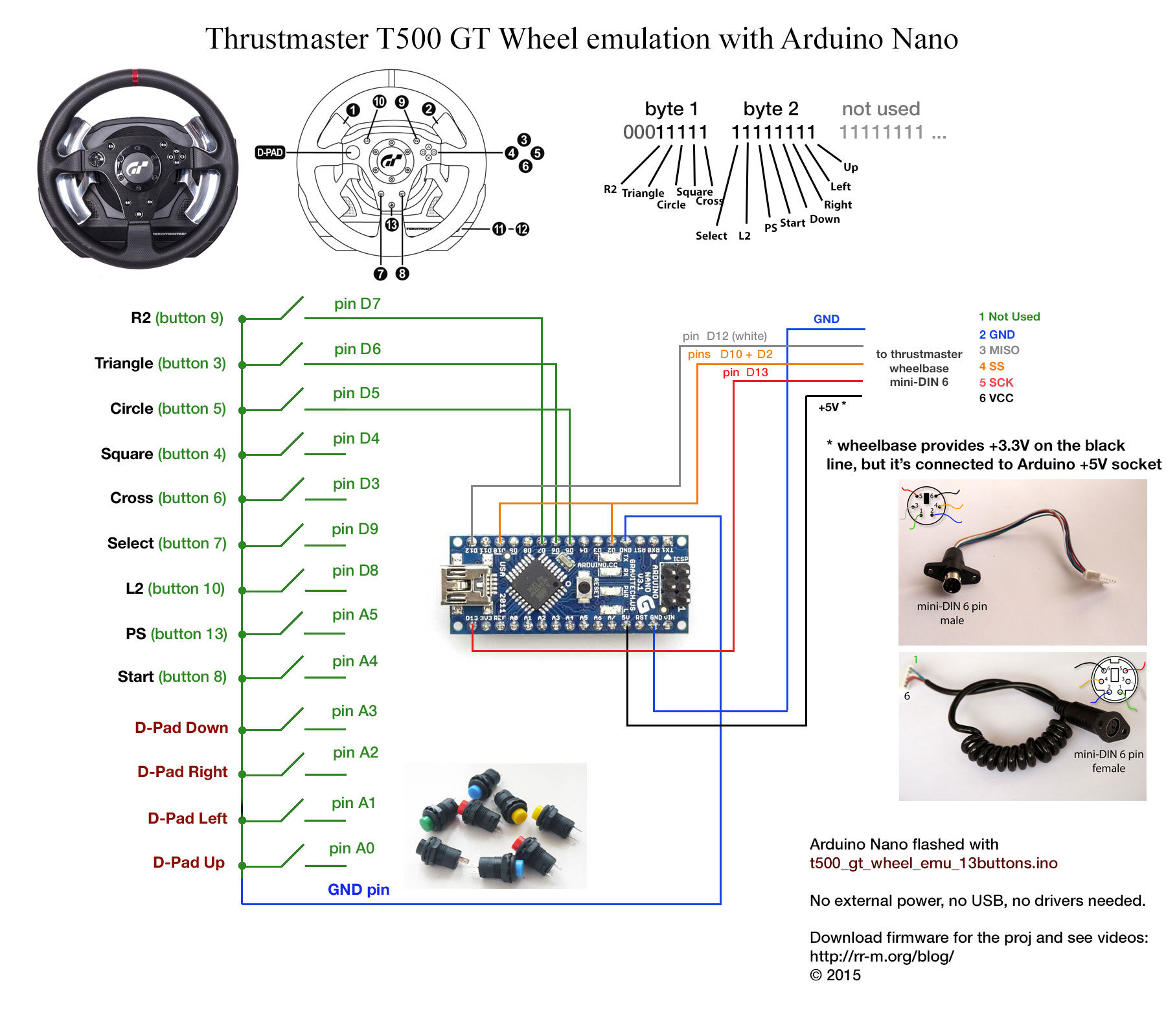 hight resolution of emulating thrustmaster t500 gt wheel electronics with 2006 ford mustang gt shaker 500 wiring diagram