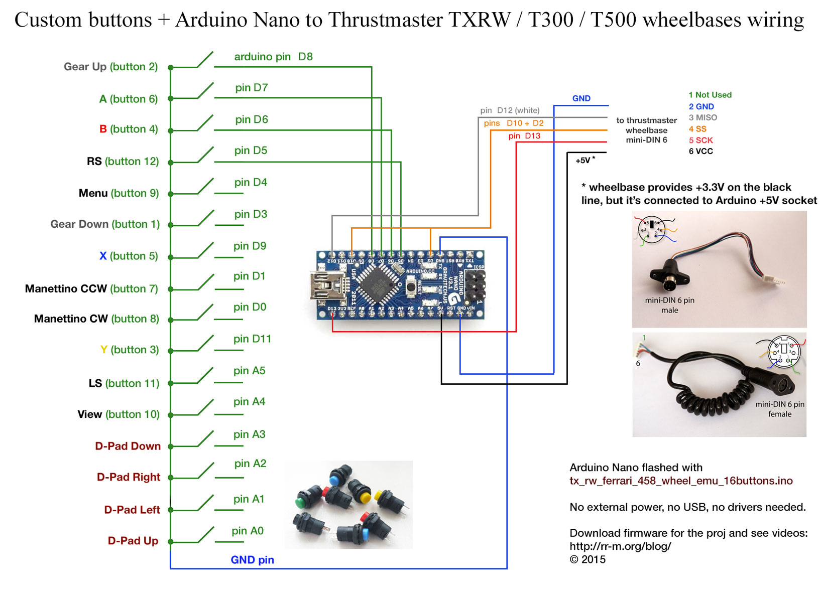 Ats Wiring Diagram Auto Electrical Igt G23 Arduino Nano Controlled Buttons For Thrustmaster