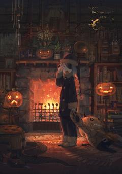 Anime Bad Girl Wallpaper I Pixiv Halloween Wallpaper