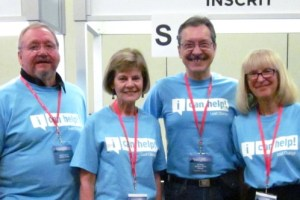 Photo of Heritage Group CICan Volunteers Gene Symchech, Joan Rew, Guy Dugas, and Leslie Walsh