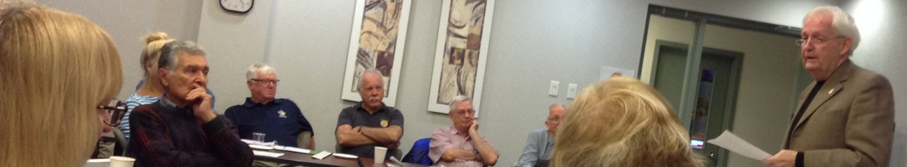 Photo of The Hon. Terry Stratton speaking to the Heritage Group