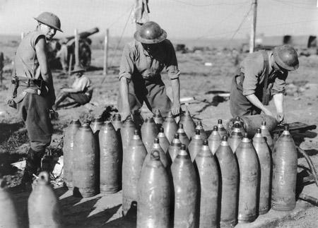 8 inch shells at Ypres, October 1917