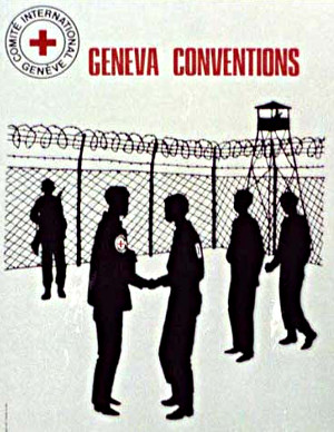 Image of Geneva Conventions poster from the US Library of Congress.