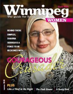 Cover of Winnipeg Women magazine from Fall of 2012