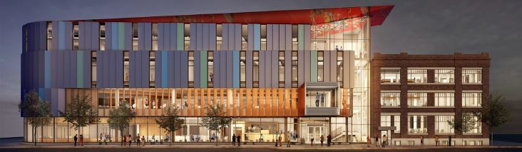 Photo of RRC's $95-million, 100,000-sq. ft. Innovation Centre, slated for completion in the fall of 2020