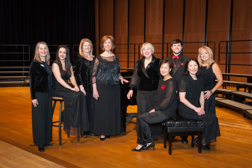 Red Rose Children's Choir and Lake County Boys Choir staff by Studio West in Libertyville