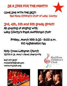Be a star for the night with Red Rose children's choir